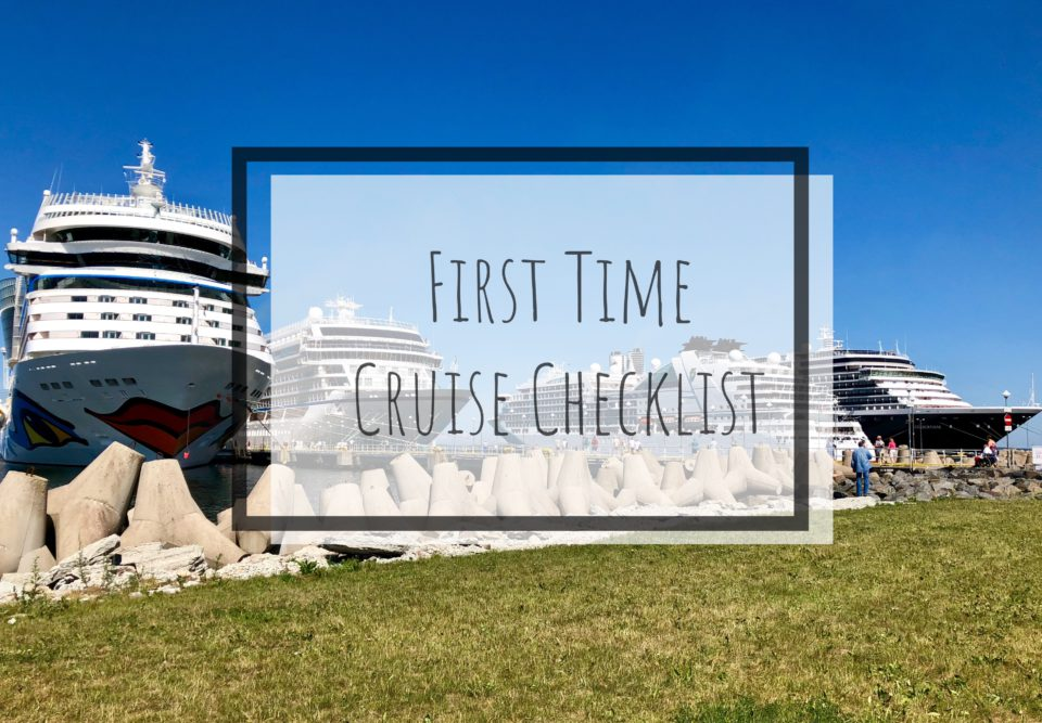First time cruise checklist – don't make these mistakes!