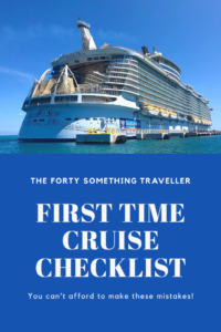 First time cruise checklist