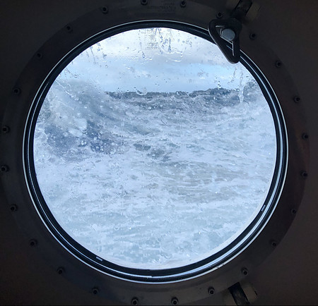 cruising rough seas